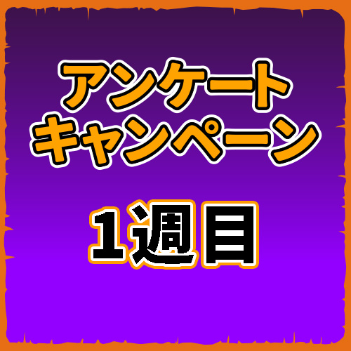 アンケートキャンペーン【1週目】