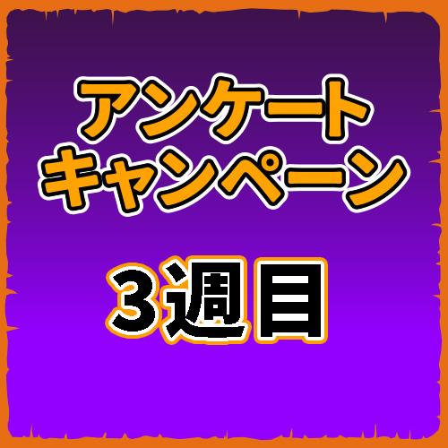 アンケートキャンペーン【3週目】