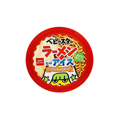【コンビニ限定】おやつカンパニー ベビースターラーメンonアイス バターキャラメル味