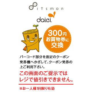 お買物券300円