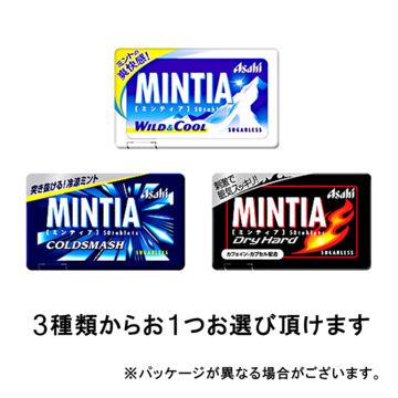 アサヒ ミンティア 3種類から1つ (ワイルド&クール・コールドスマッシュ・ドライハード)